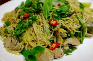 Asian Style Pork Fillet with Noodles